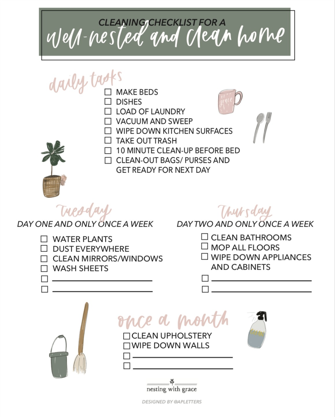 graphic regarding Printable Cleaning Checklist known as Cleansing Routine- Totally free Printable and our fresh Vacuum