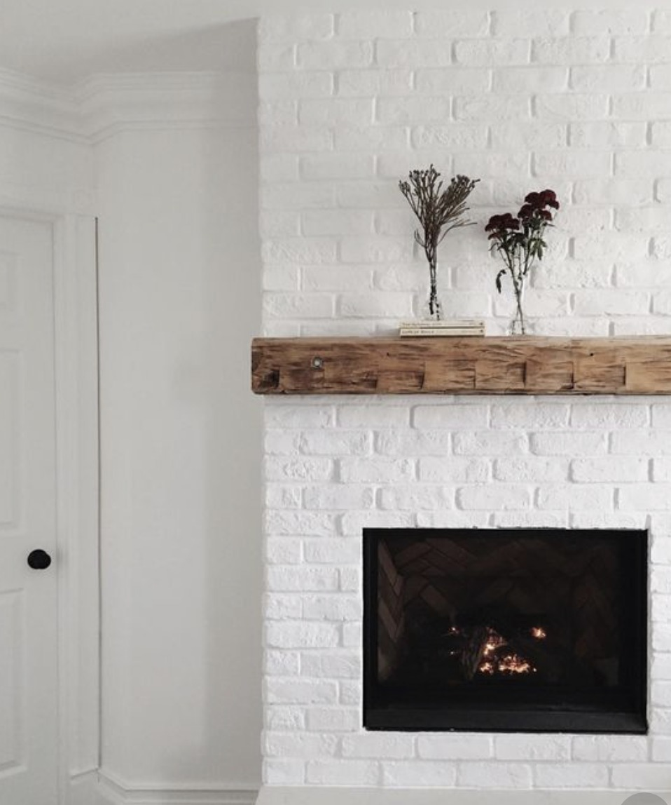Fireplace Reveal- Our Electric Brick Fireplace