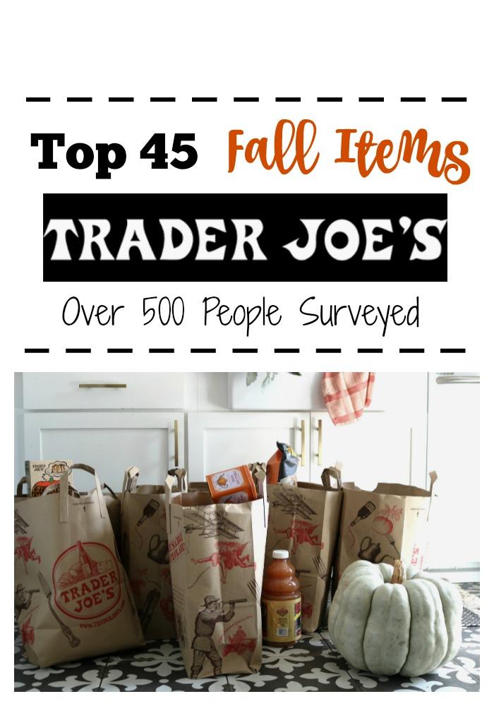 Trader Joe's Fall Favorites Shopping List