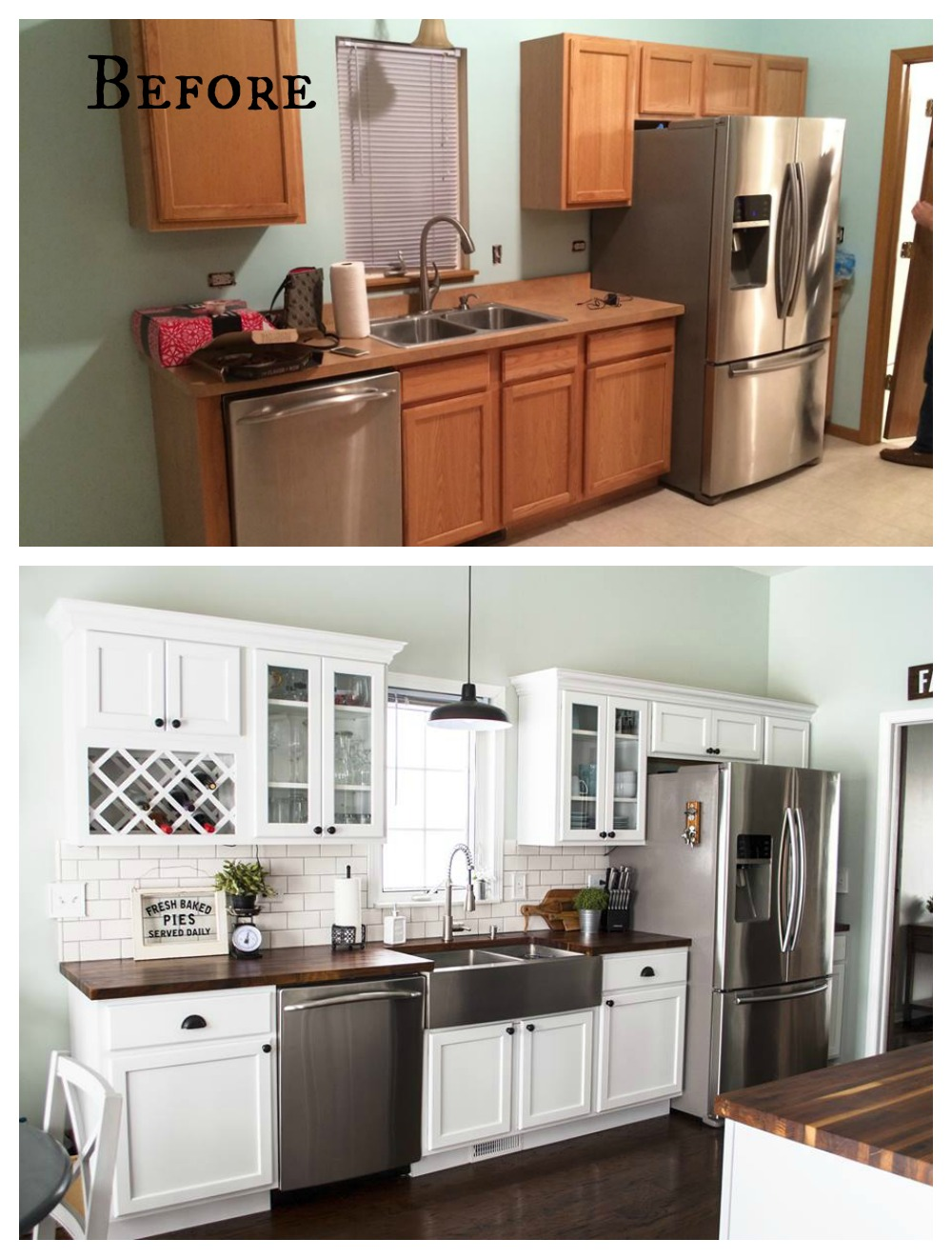 27 Inspiring Kitchen Makeovers- Before and After - Nesting ...