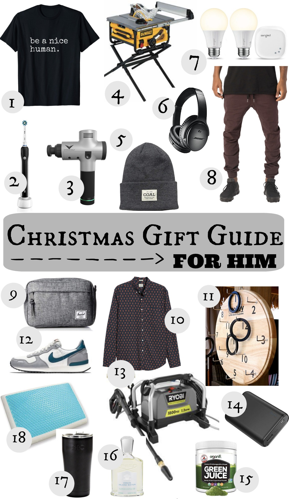 Christmas Gift Guide for Him - Nesting With Grace
