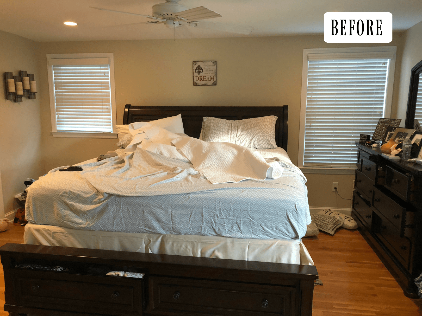 Dark Bedroom to Light and Bright