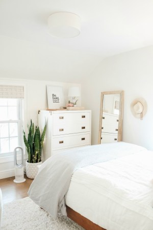 bedroom wall accent makeover decor idea