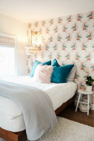 bedroom wall accent makeover bedrooms thrifted nestingwithgrace idea decor teen living