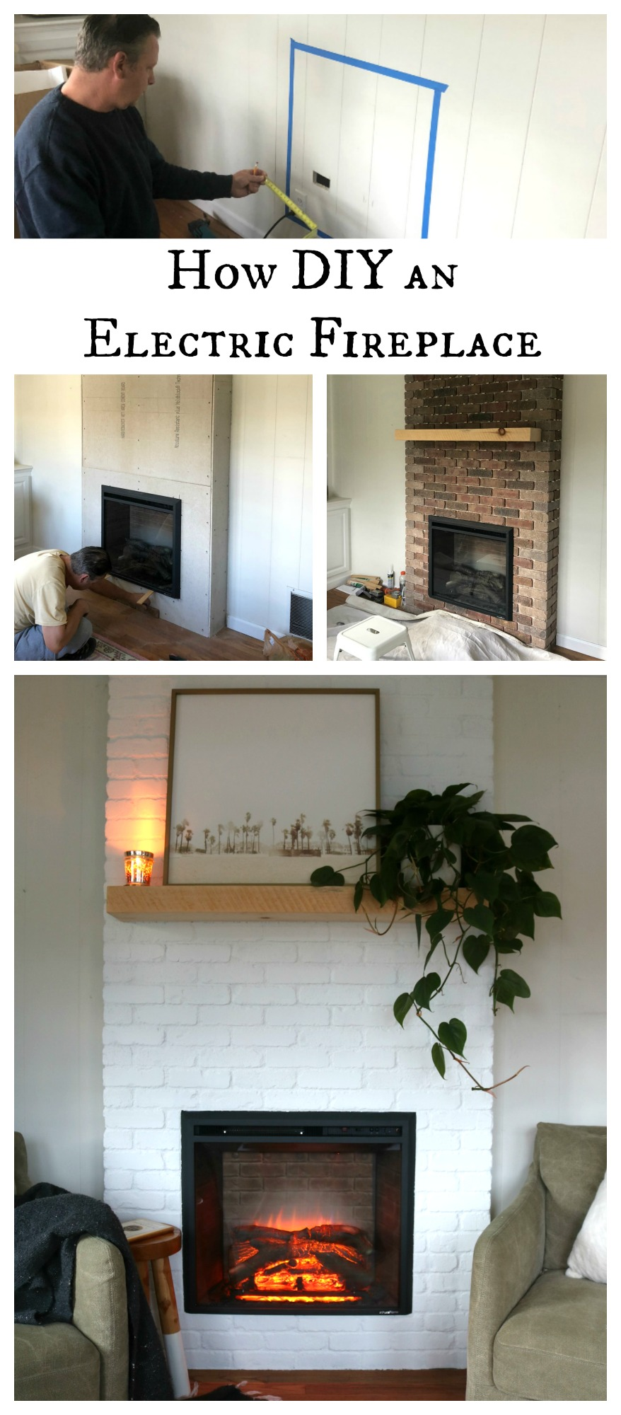 How to DIY an Electric Fireplace- Top Blog Posts