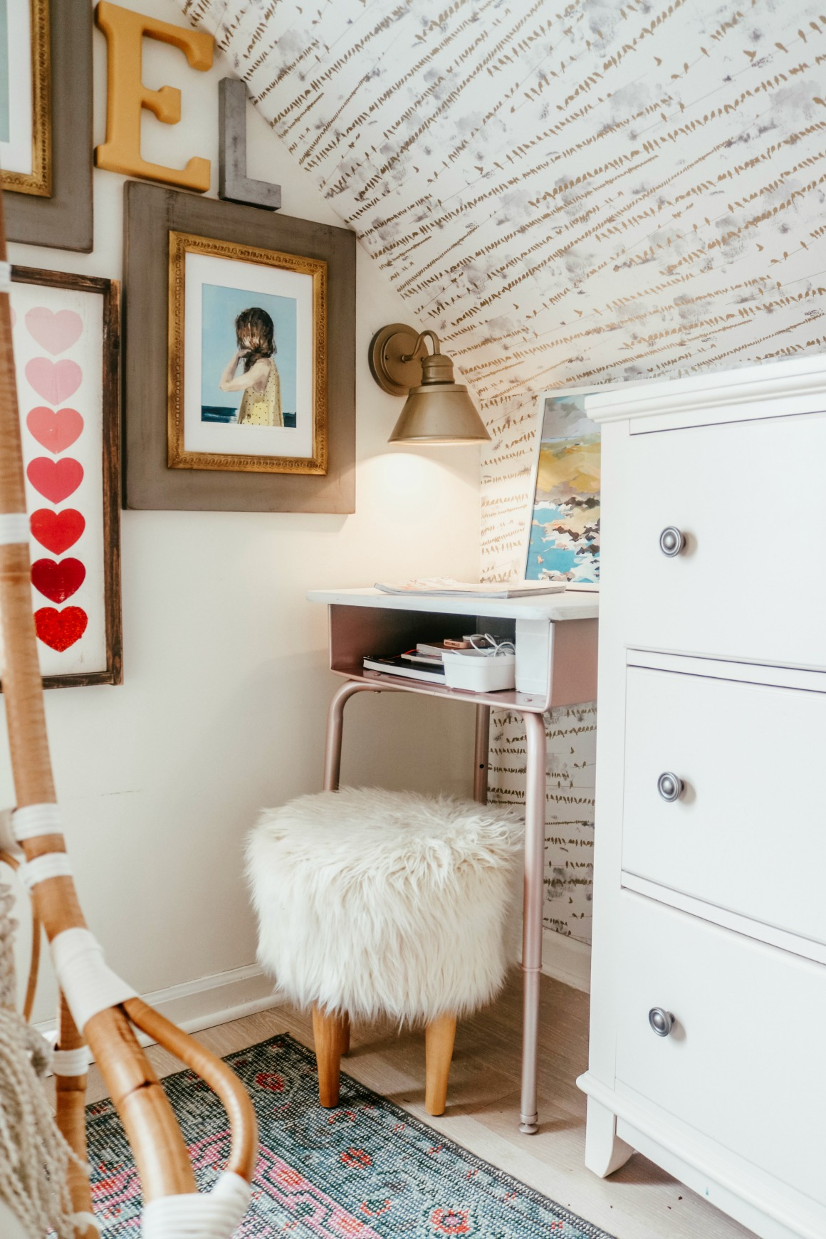 Marie Kondo Office Organizing Tips- Girls Desk
