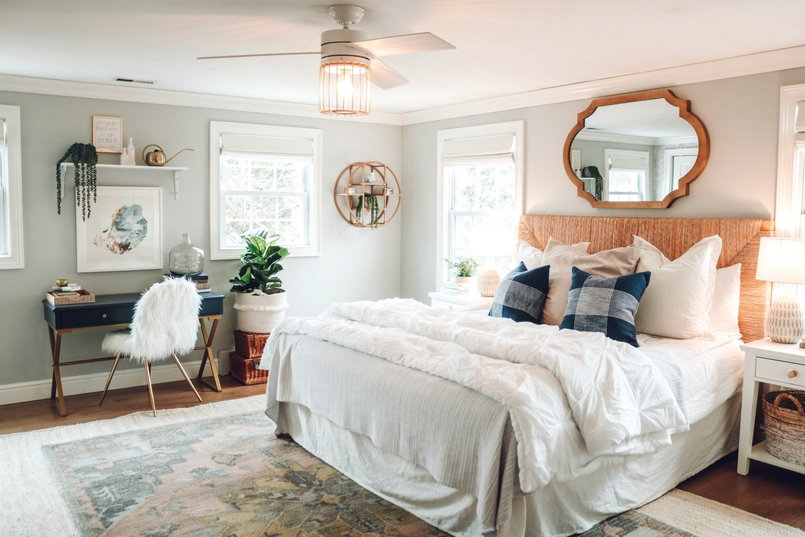 Master Bedroom- Light and Bright Makeover
