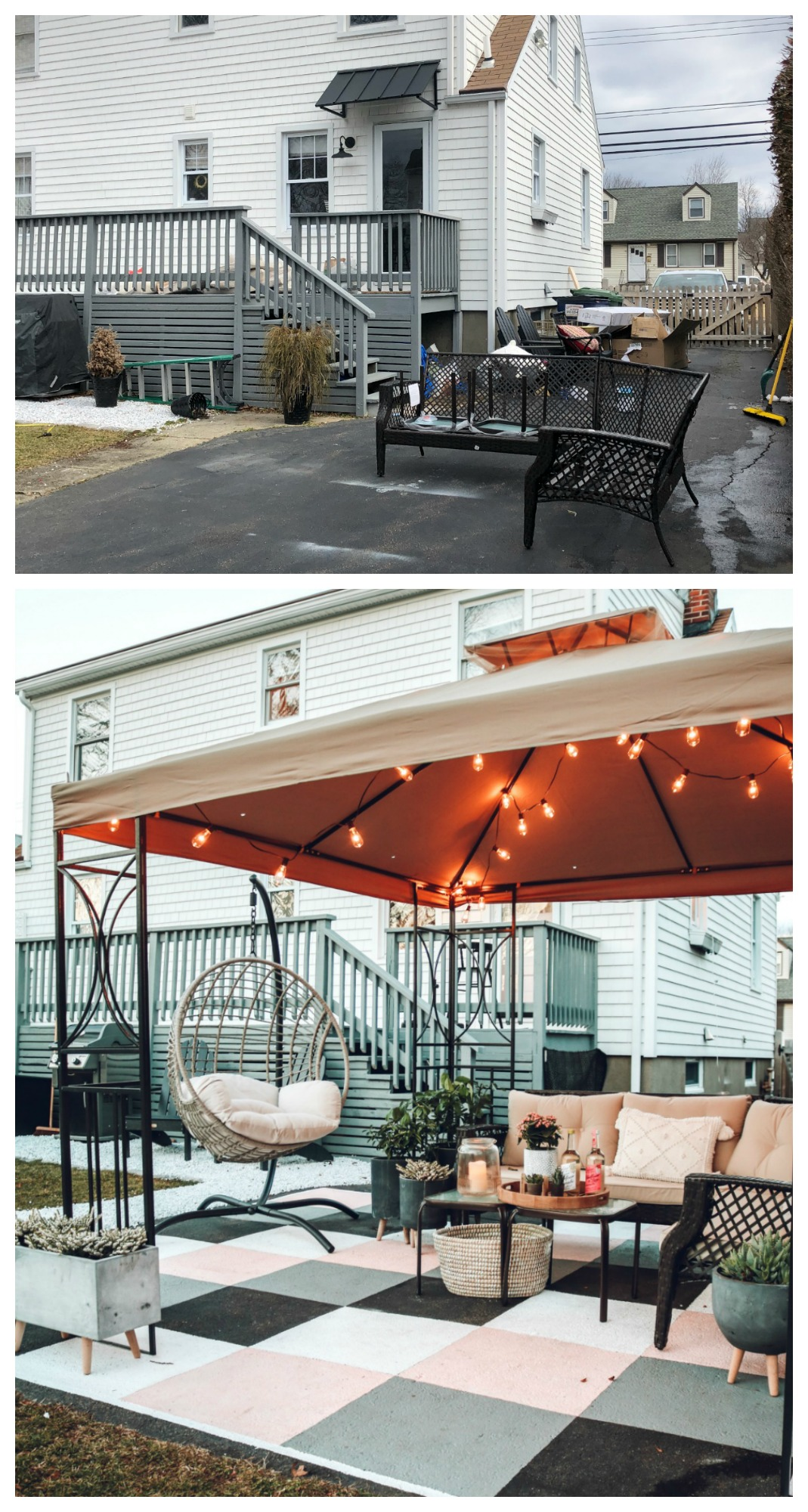 Painted Cement Outdoor Space