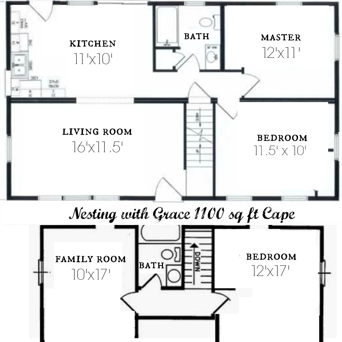 Complete Before and After's- 1100 sq ft Cape- Floor Plan and ... on