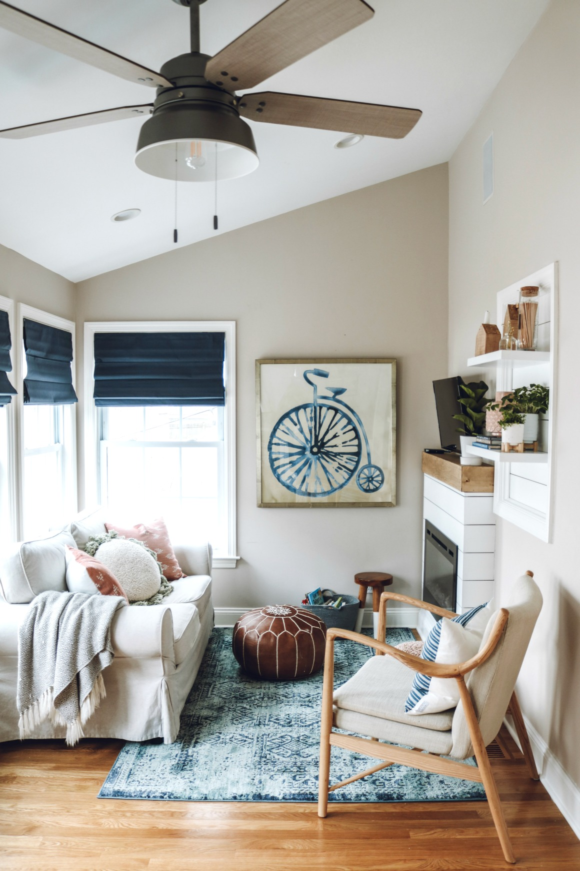 Mini Sunroom Makeover With Electric Fireplace Nesting With Grace