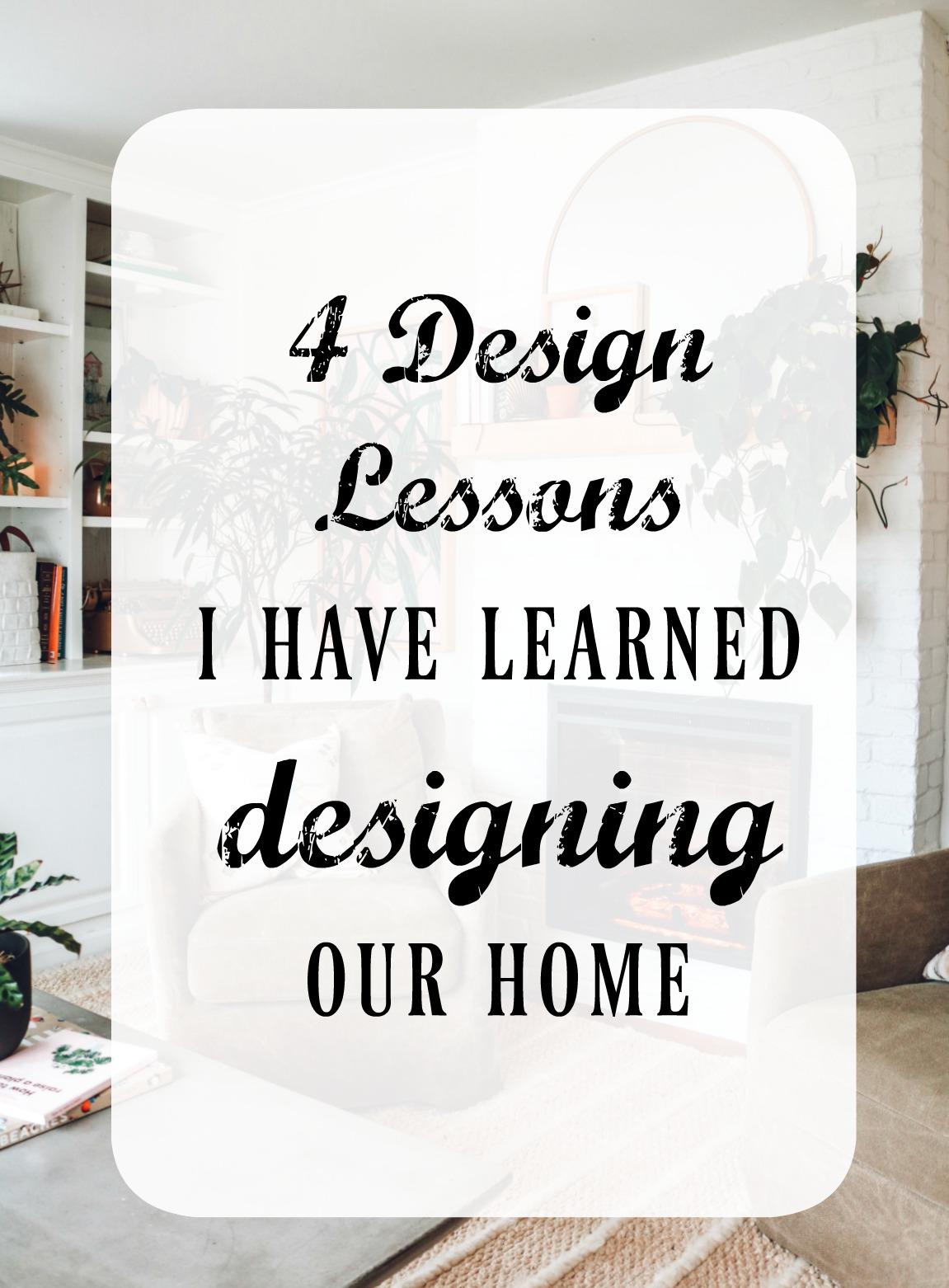 4 Design Lessons I Learned