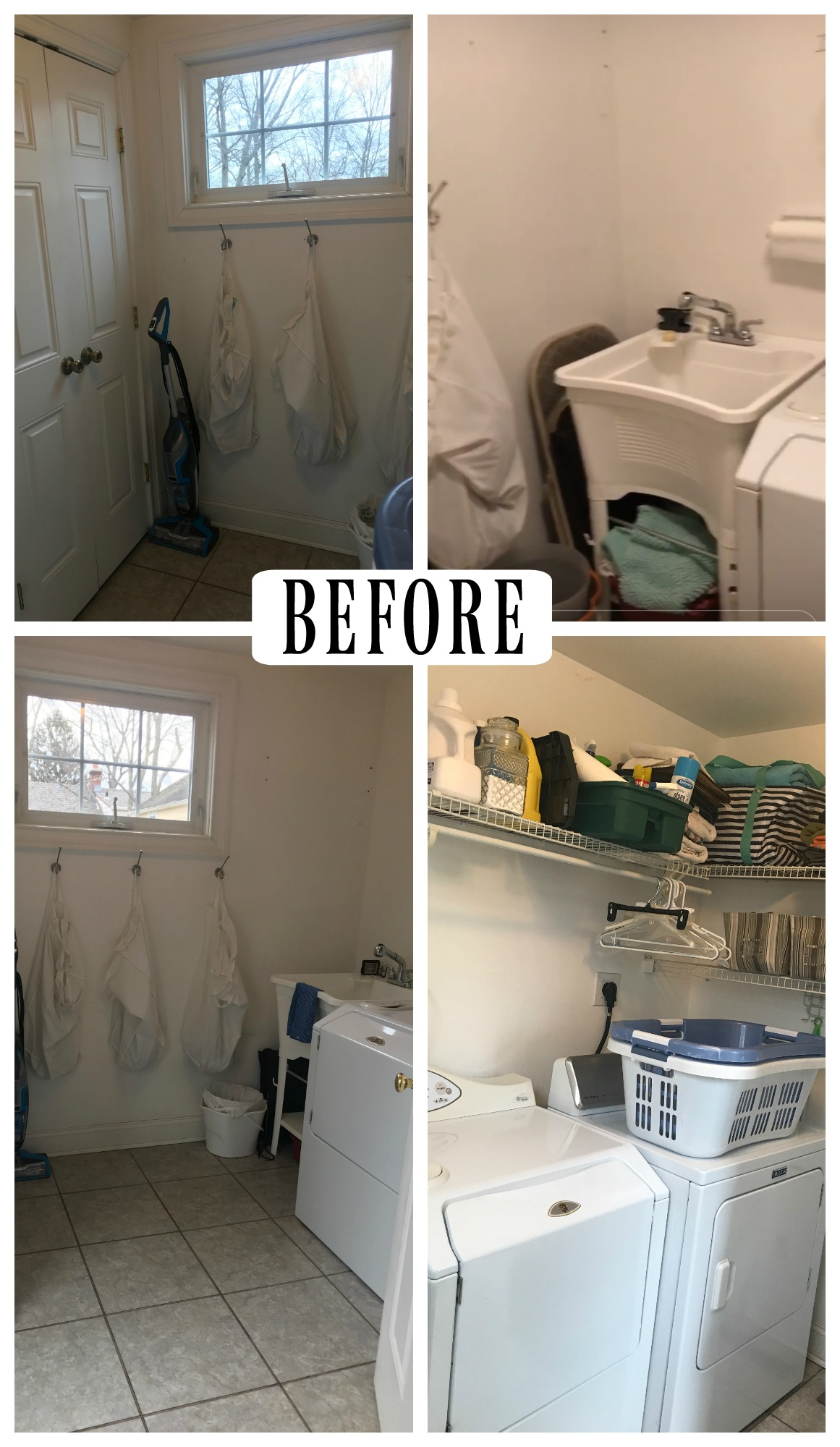 Laundry Room Makeover With Tempaper Removable Wallpaper And Painted Laminate Nesting With Grace