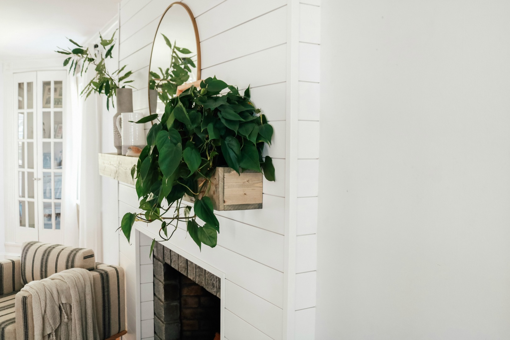 Shiplap Fireplace and DIY Mantle (Ditched the Old