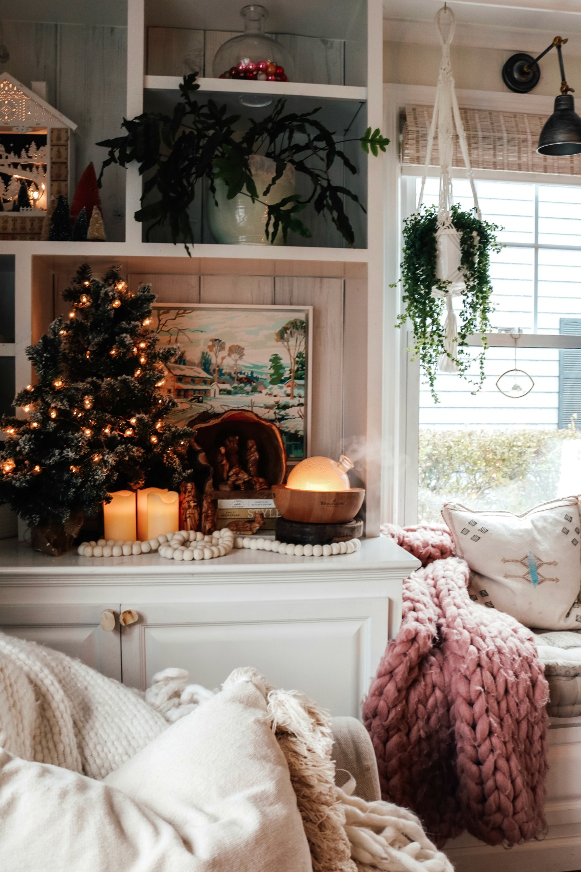 Christmas Decor- Vintage and Pink