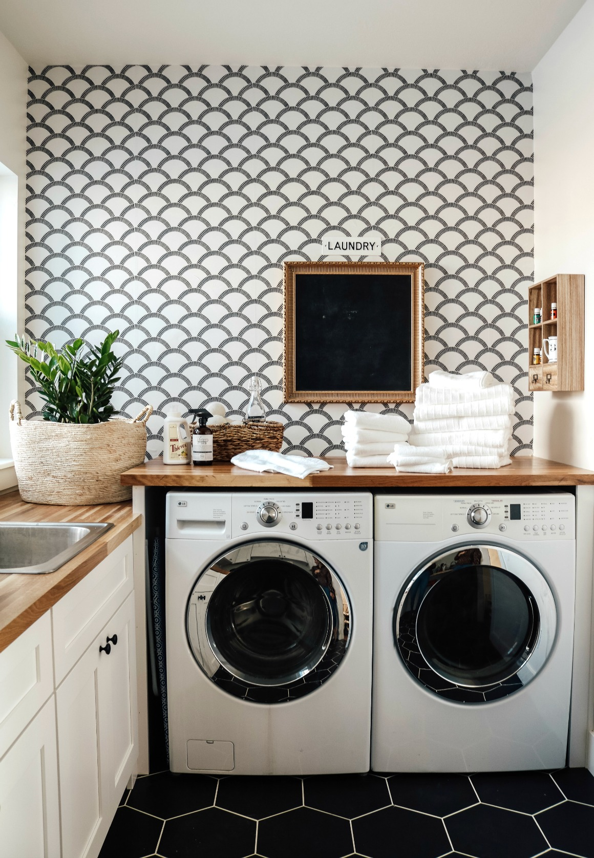 Brand New Laundry Room Gets Some Character