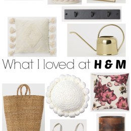Favorites from H&M Home!!!