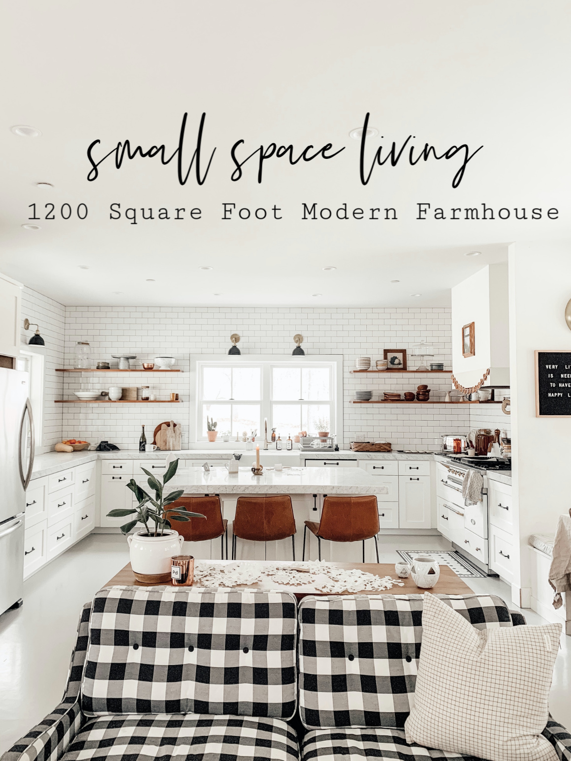 Small Space Living Series 1200 Square Foot Modern Farmhouse Nesting With Grace