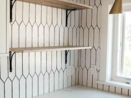 Affordable Open Kitchen Shelves