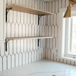 Affordable Open Kitchen Shelves