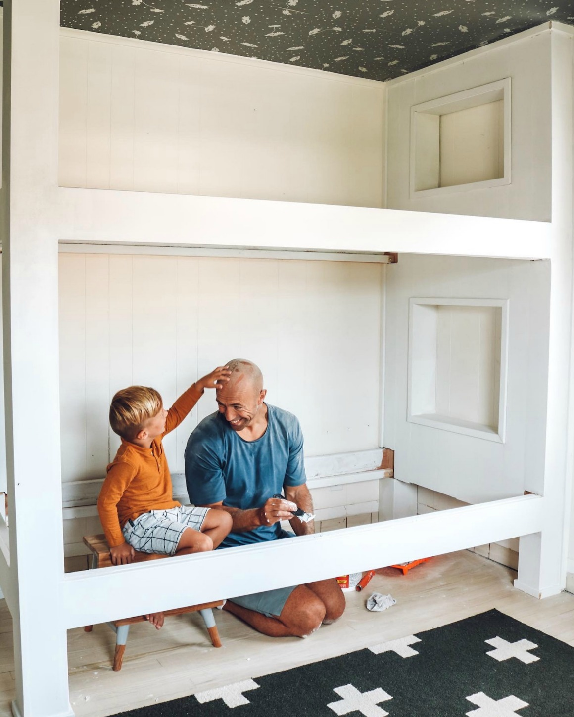 Built In Bunkbed Diy For 500 Nesting With Grace