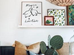 Picture Ledge DIY- Art Ideas- Colorful Art