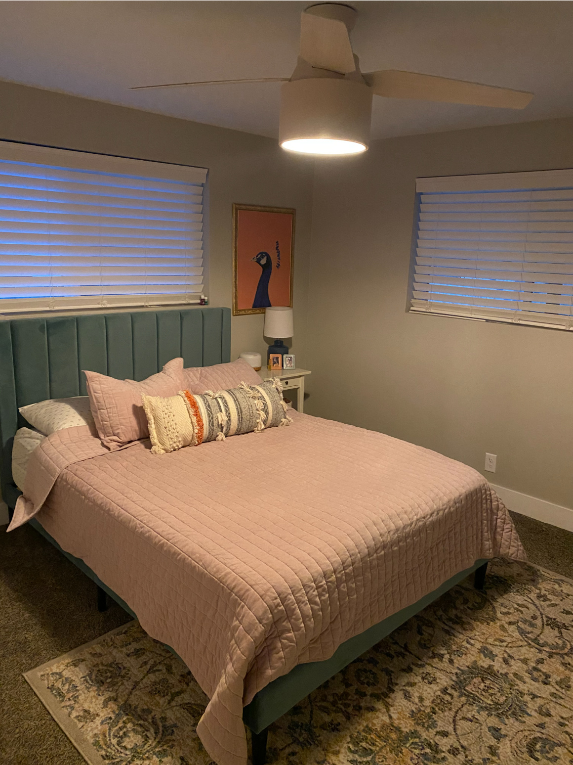 Small Master Bedroom Makeover Removable wallpaper