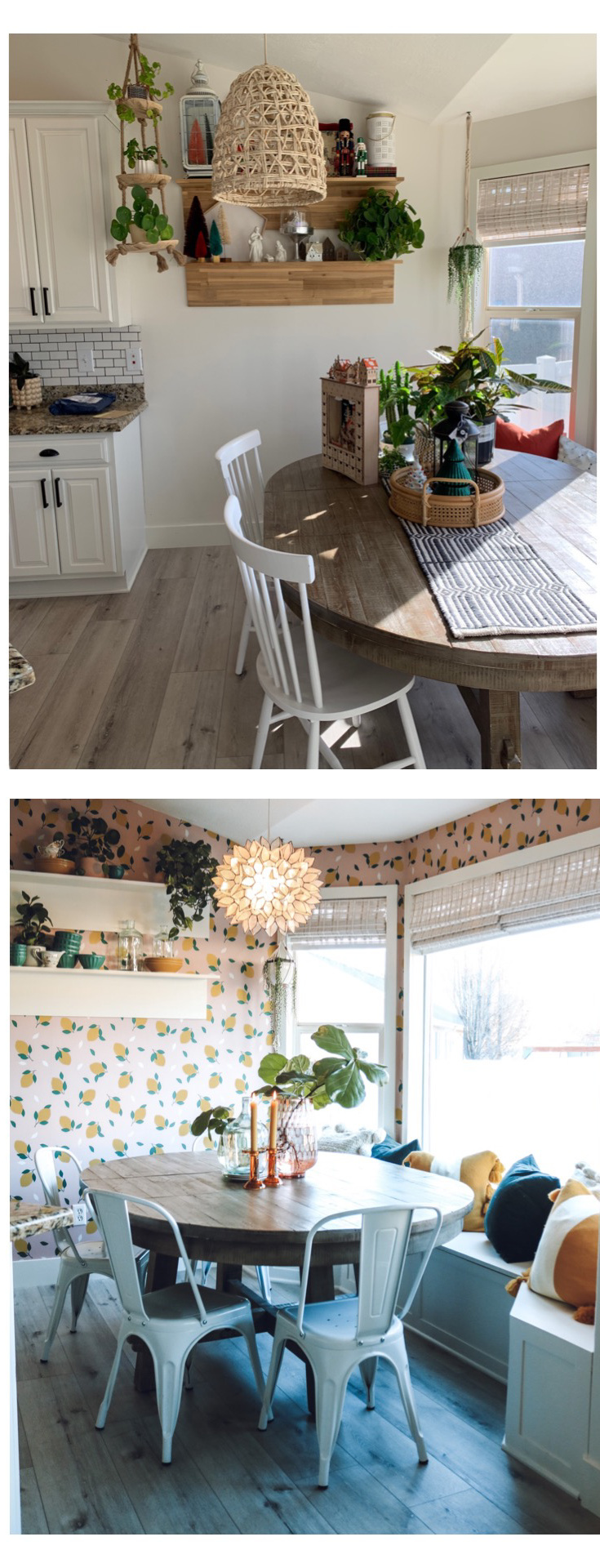 Making of a Kitchen with Removable Wallpaper
