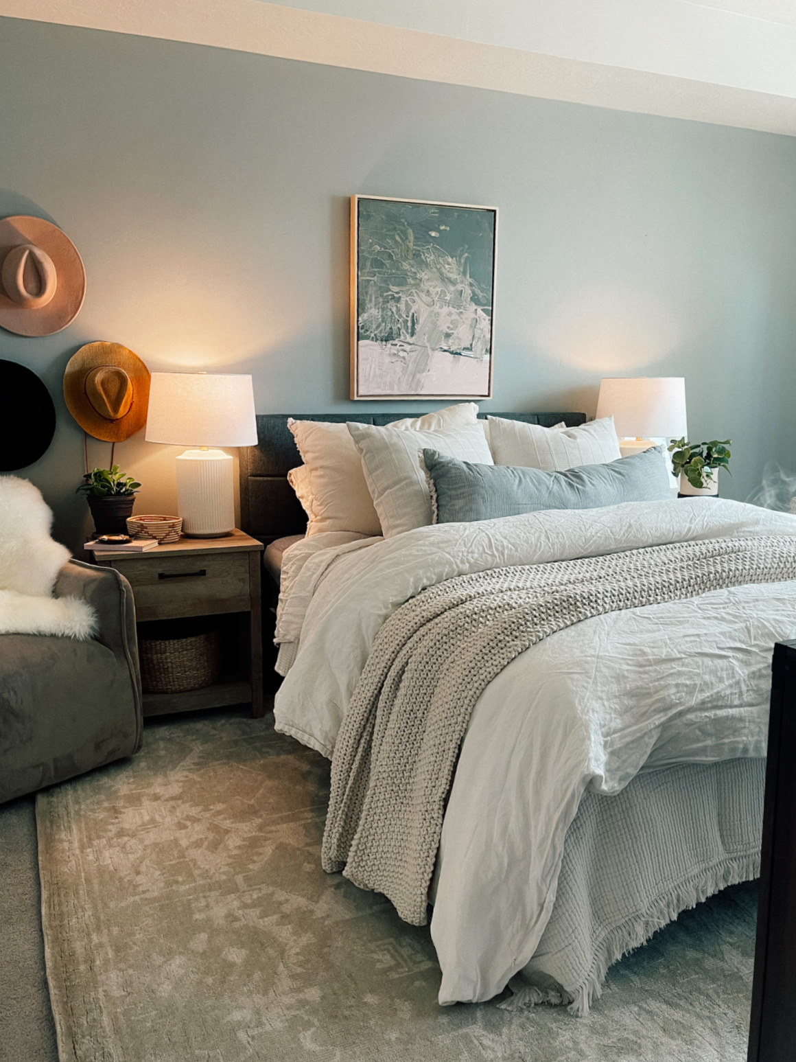 Rental Bedroom with Fluffy Bedding and Non-Toxic Mattress Tuft & Needle