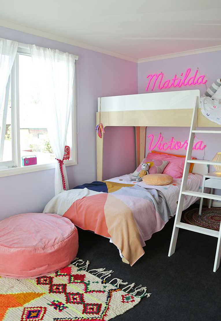 Neon name signs girls bedroom