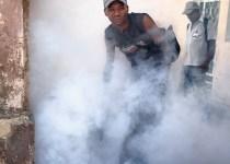 Fumigator in Havana, Cuba