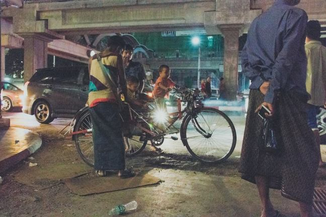 Early hours in Myawaddy. The first of the markets starts at 2 a.m.