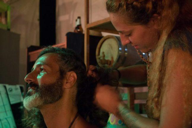 Braiding before dancing