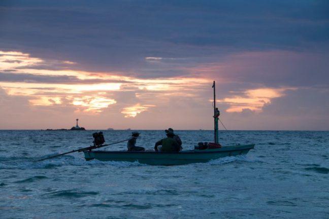 Fishermen heading home