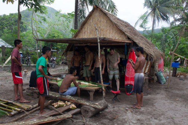 Full Nipa Hut and front wall open