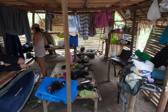 Insides of the Nipa hut