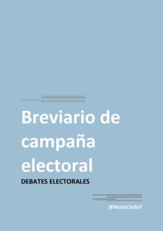 thumbnail of Debates Electorales
