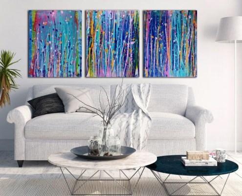 SOLD - Original abstract art by Los Angeles artist Nestor Toro