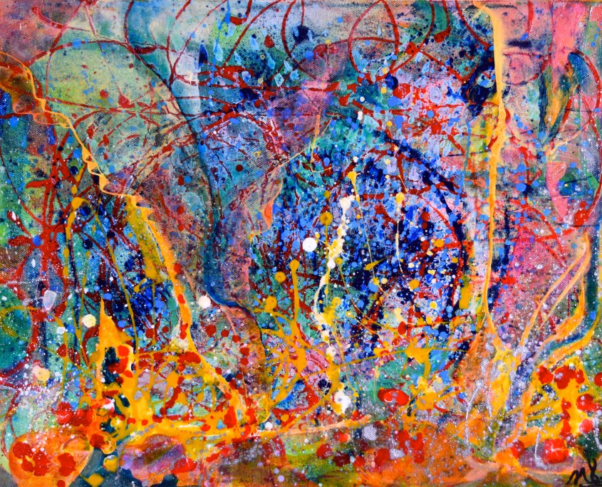 Latest abstract painting sold by artist Nestor Toro