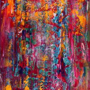 Color Field abstract painting by artist Nestor Toro