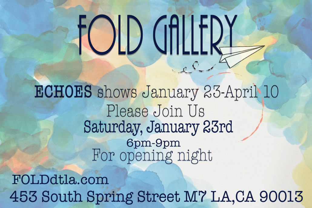 "First show of 2016 in Los Angeles at the Fold gallery. The show is called ""Echoes"" and Nestor Toro is one of just 4 artists in the show!"