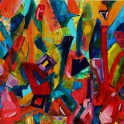 SOLD - The painters trunk, 2014 Acrylic painting by Nestor Toro