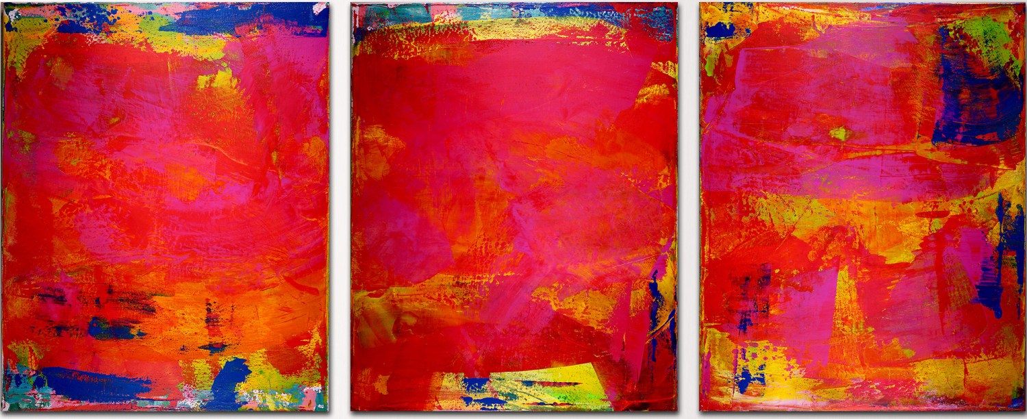 "SOLD ARTWORK ""A place to hide II""- Abstract Tryptic (2016) SOLD by Los Angeles artist Nestor Toro"