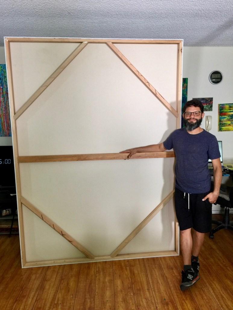 Nestor Toro with custom made canvas