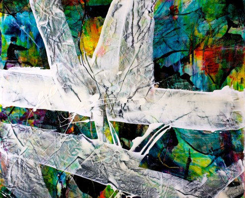 SOLD - Floral Spectra ll (2015) Acrylic painting by Nestor Toro Sold at Zatista Online Art Gallery