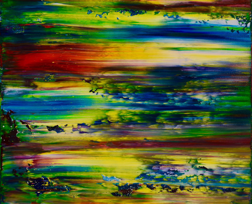 Oh Wow - SOLD - abstract painting by artist Nestor Toro in Los Angeles
