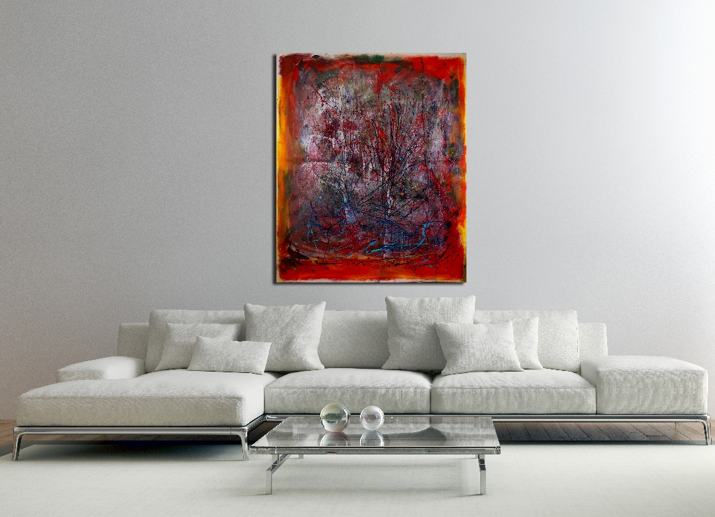 Abstract Allure 1 by abstract painter - Nestor Toro in Los Angeles