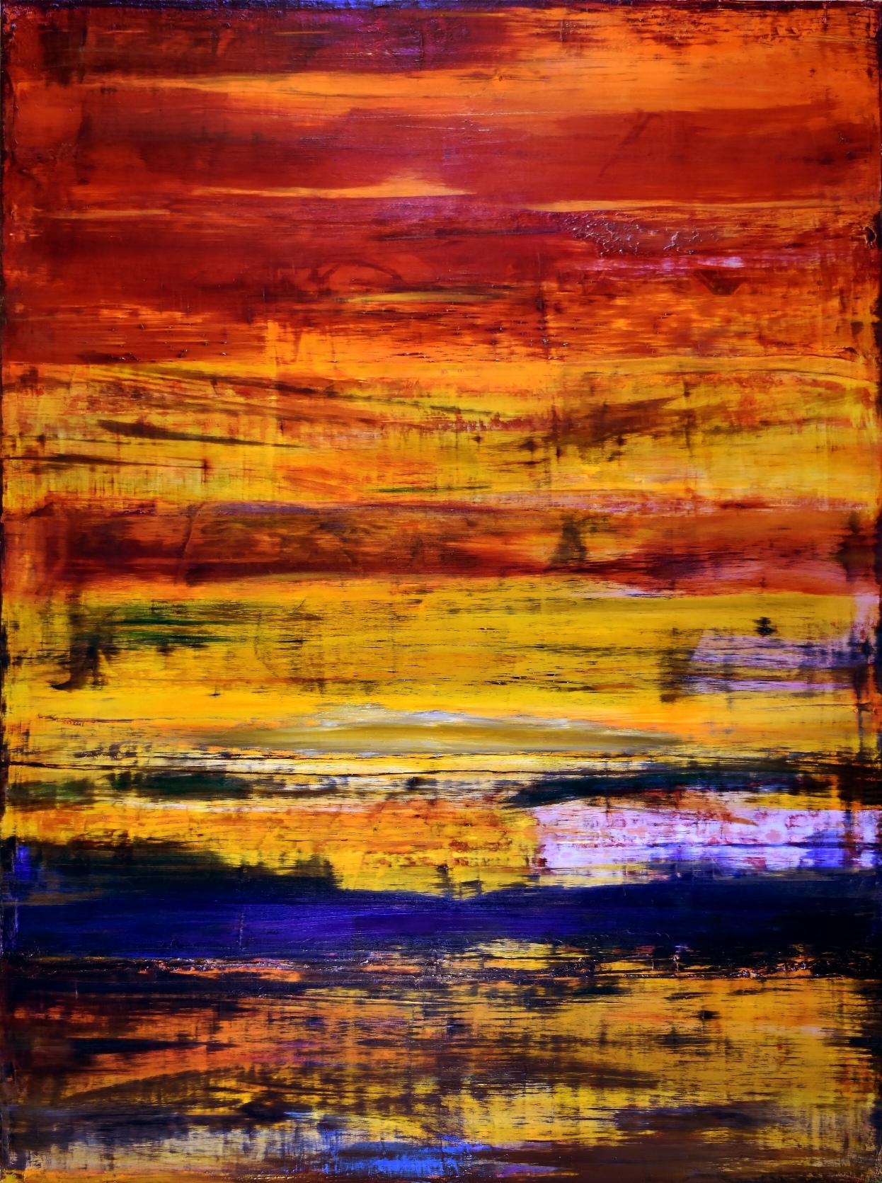 SOLD - Iridescent Volcanic Spectra - artist- Nestor Toro