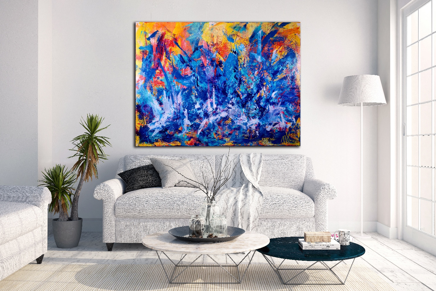 SOLD - The Faces of Blue by Nestor Toro