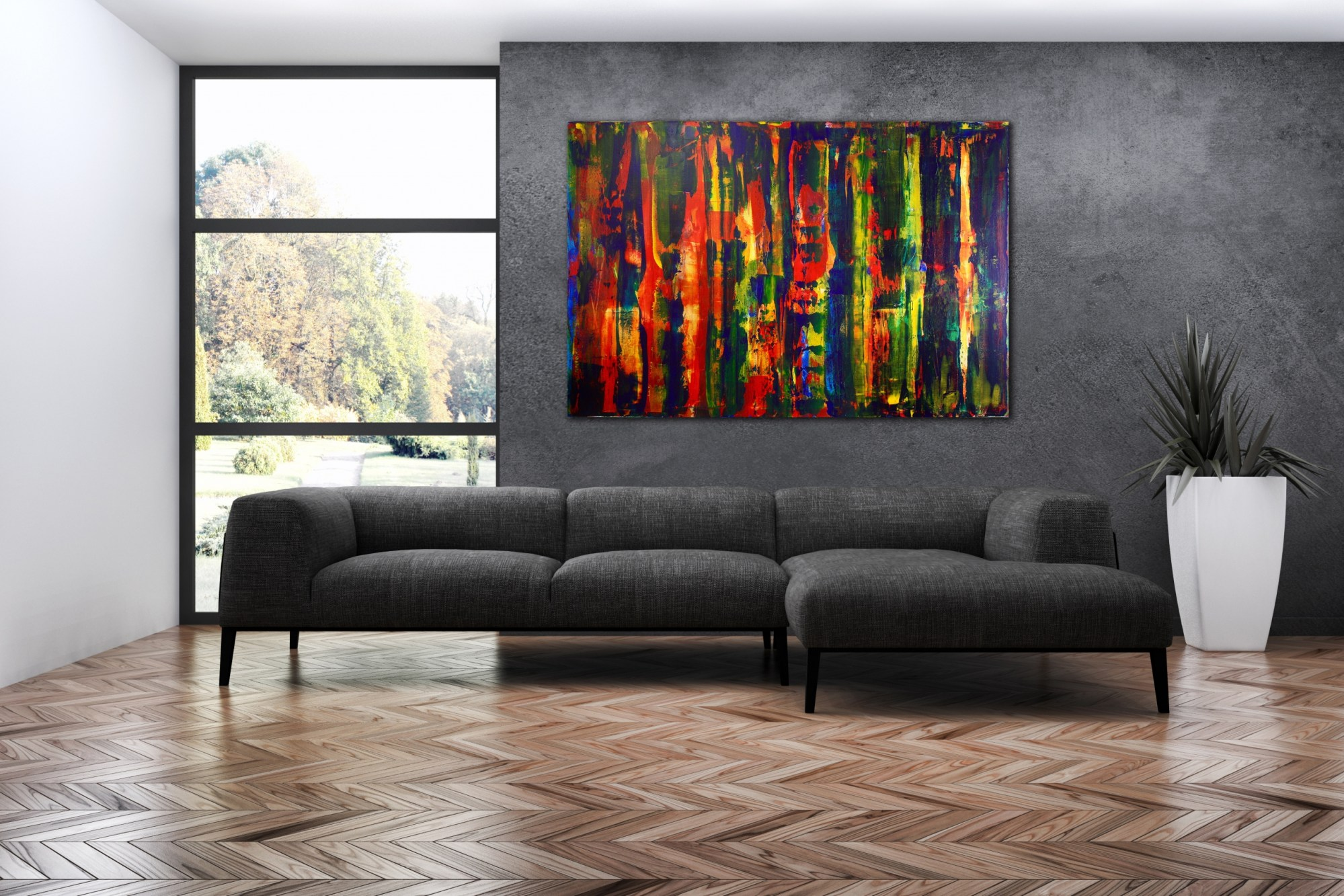 Artist's description: Iridescent warm colorfield with orange and purple iridescent effects. Textured surface, lots of movement and light coming through the dark colors! Very contemplative painting with beautiful color blending. High quality sennelier and Golden acrylics on heavy duty canvas. Statement piece. This work arrives rolled in a heavy duty tube. You can take it to your favorite frame shop to have it put on stretcher bars and it's ready to hang! Additional Info: I include a certificate of authenticity that lists the materials as well as when the painting was completed. Fine high quality materials such as Golden and Sennelier products are used and UV protective enamel for sunlight protection. Each painting is carefully packed and padded for a safe delivery. Paintings shipped with a tracking number. Please send me a message for any further questions! Materials used: Plaster, gesso, Golden, Sennelier and Liquitex acrylics and UV protected gloss coating. Flares- Bold Landscape (2015) Acrylic painting by Nestor Toro