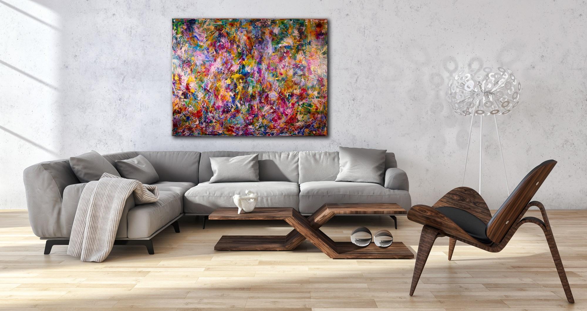 Echoes (Botanical Fantasy) (2016) Acrylic painting by Nestor Toro